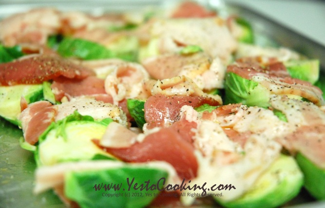 Brussel Sprouts and Bacon- Yes to Cooking