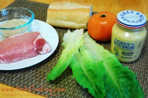 Ingredients- Pork Chop Onion Sandwich