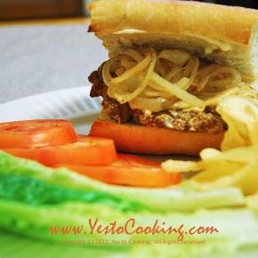 Pork Chop Sandwich with CaramelizedOnion