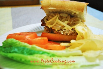 Pork Chop Sandwich with Caramelized Onions