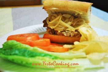 Pork Chop Sandwich with Caramelized Onions