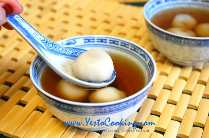 Black Sesame Dumplings (Tangyuan) in Ginger Sweet Soup- Yes to Cooking