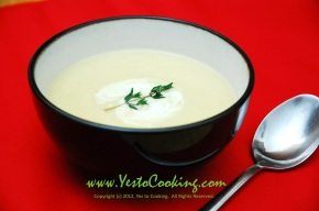Creamy Parsnip with Anjou Pear Soup