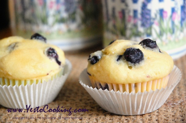Blueberry Muffins- Yes to Cooking