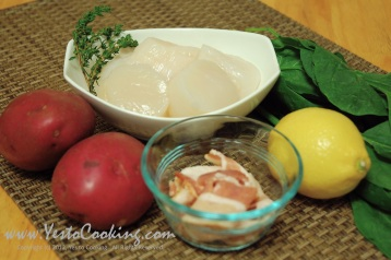 Ingredients- Seared Scallops with Brown Butter Sauce, Yes to Cooking