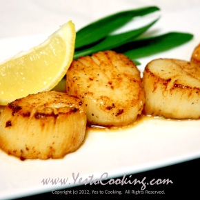 Seared Scallops with Brown ButterSauce