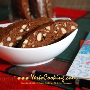 Almond Chocolate Biscotti