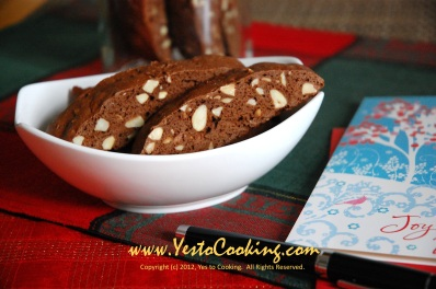 Almond Chocolate Biscotti- Yes to Cooking