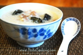 Congee with Preserved Egg and Salted Pork