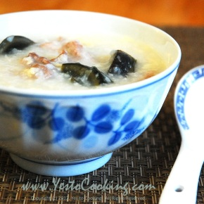 Congee with Preserved Egg and SaltedPork
