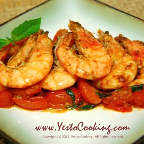 Paprika Shrimp with Grape Tomatoes and Basil