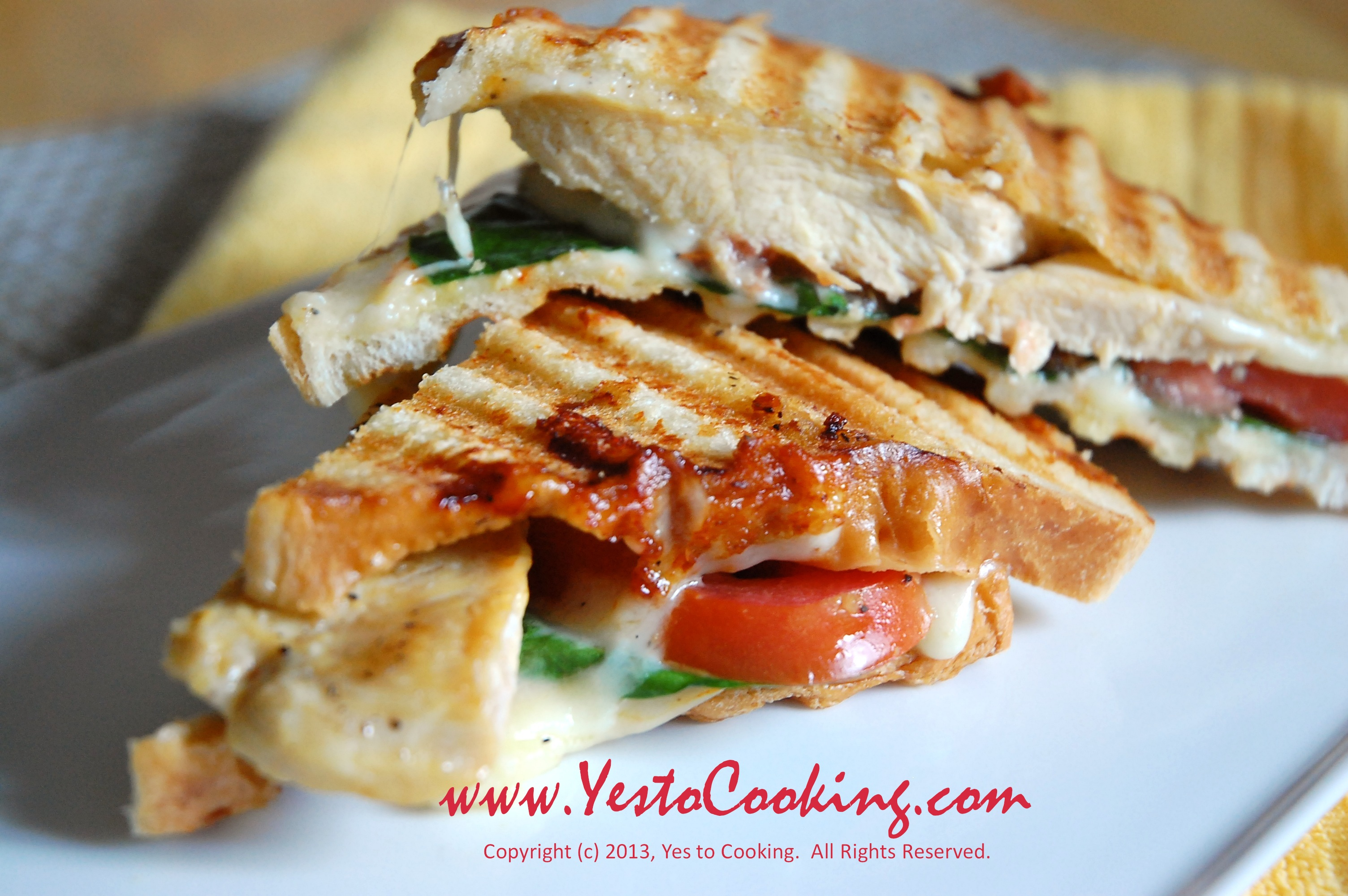 grilled chicken panini with muenster cheese yes to cooking. Black Bedroom Furniture Sets. Home Design Ideas