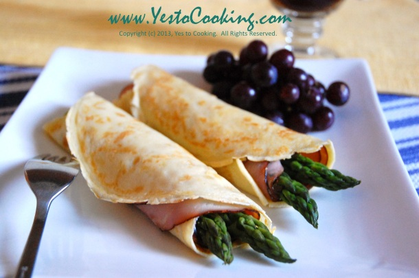 Asparagus Maple Ham French Crêpe- Yes to Cooking