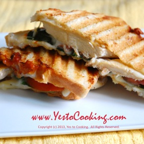 Grilled Chicken Panini with Muenster Cheese