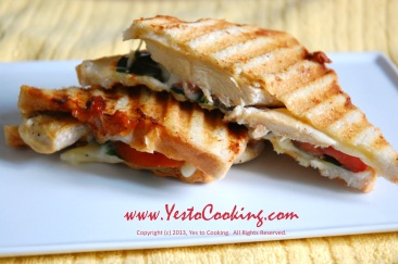 Grilled Chicken Panini with Muenster Cheese- Yes to Cooking