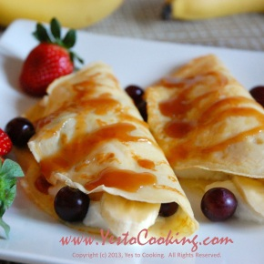 French Crêpe with Yogurt and Fresh Fruit