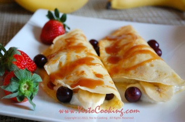Breakfast French Crêpe with Yogurt and Fresh Fruit- Yes to Cooking