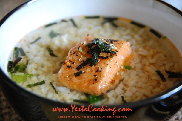 Chazuke: Oolong Tea with Rice and Salmon- Yes to Cooking