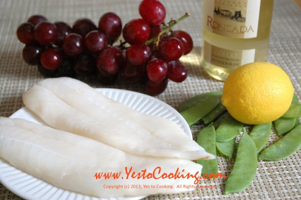 Orange Roughy Fillet with White Wine and Grape Sauce- Yes to Cooking