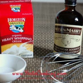 Basics: Vanilla Whipped Cream