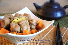 Steamed Kabocha Squash with Pork SpareRibs