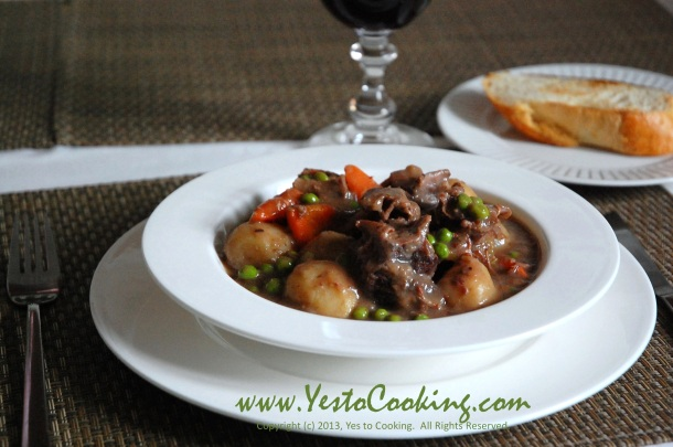 Beef Brisket Stew with Red Wine Sauce- Yes to Cooking