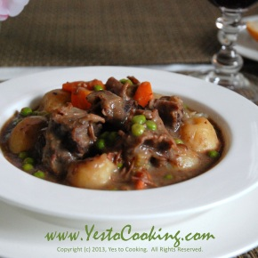 Beef Brisket Stew in Red Wine Sauce