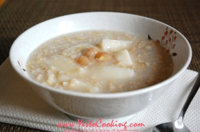 Congee with Shanyao, Dried Longan, and Barley