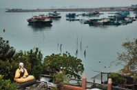 Catch a glimpse of the water view from Hoi Tin Garden Restaurant's private dining room.