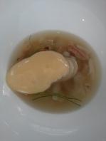 Congee of Northern Australian mud crab, fresh palm heart, egg yolk emulsion