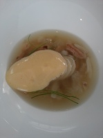 Congee of Northern Australian mud crab, fresh palm heart, egg yolk emulsion