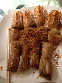Mantis Prawn with Garlic and Chili Pepper (香蒜瀨尿蝦)