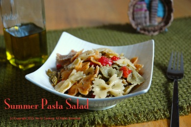 Summer Pasta Salad- Yes to Cooking