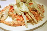 Chilled spotted sea crabs highlight the natural sweetness of the crab.