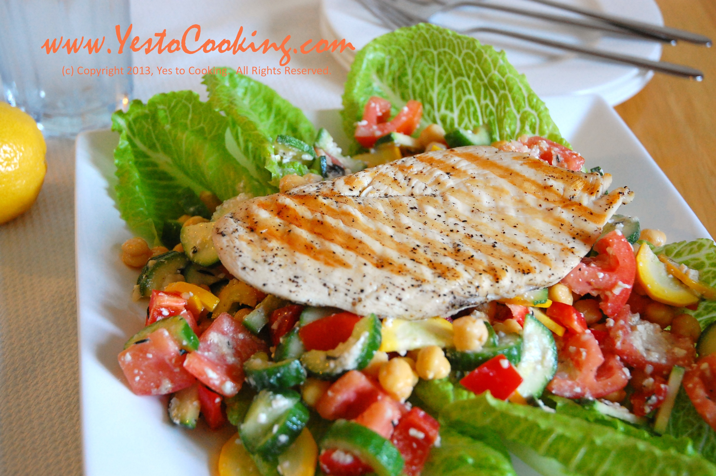 Grilled Chicken Greek Salad | Yes To Cooking