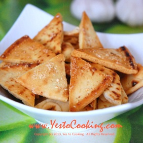 Parmesan Garlic Pita Chips