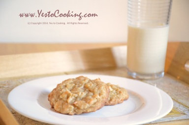 White Chocolate Chips and Coconut Flake Cookies- Yes to Cooking