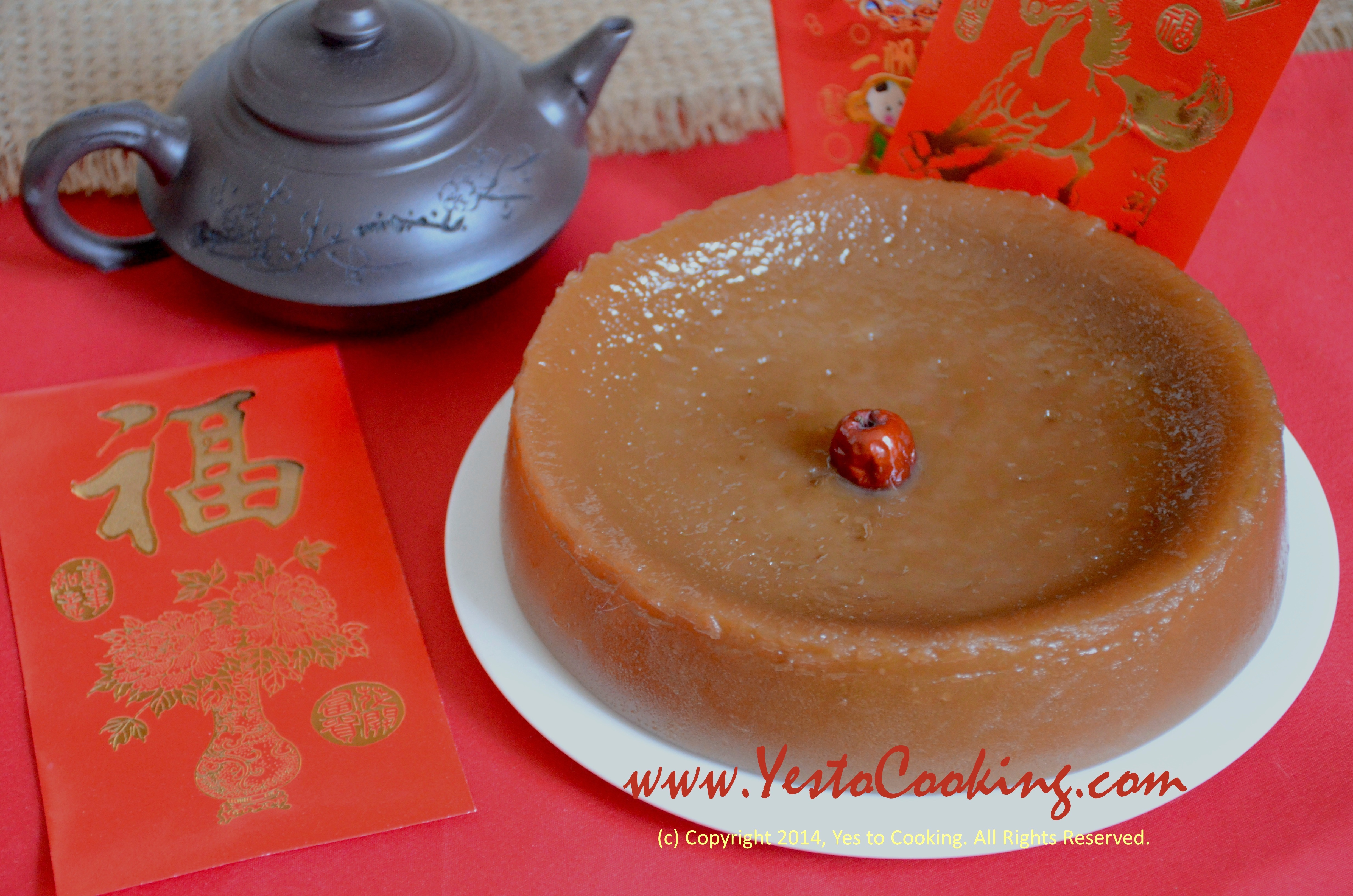 Cake New Year Recipe : Nian Gao (Lunar New Year Glutinous Rice Cake) Yes To Cooking
