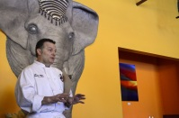 Chef Gerard Lopez gives the group a introductory talk on the dishes we'll be working on for the day.