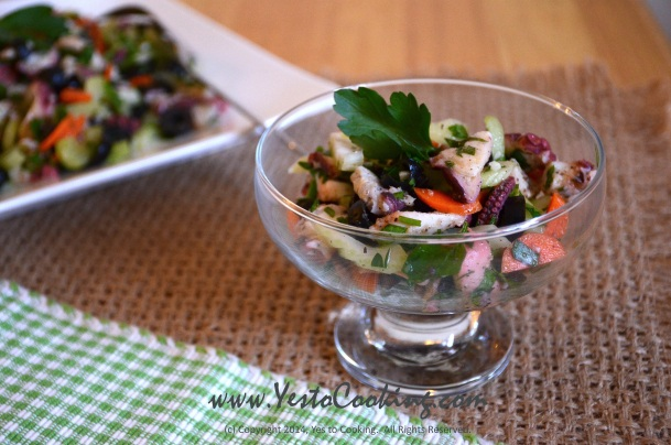 Puglian Octopus Salad- Yes to Cooking