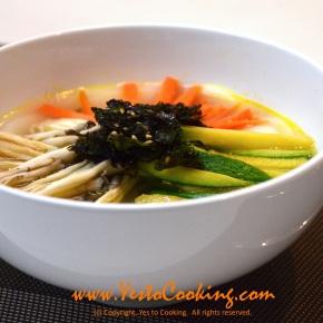 Rice Cake Soup (떡국Tteokguk)