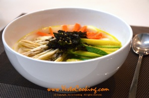 Rice Cake Soup (Tteokguk)- Yes to Cooking