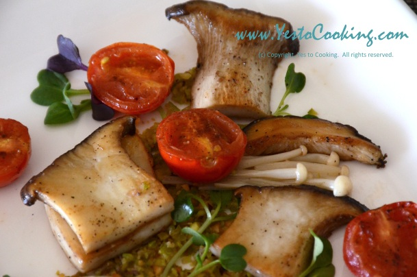Mushroom Medley Pistachio Salad- Yes to Cooking