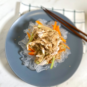 Asian Chicken Noodle Salad with Sesame Dressing